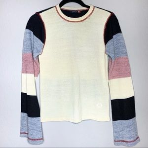 Roxy Jean size M striped knit sweater